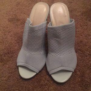 Forever 21 Grey Open Toe Heels